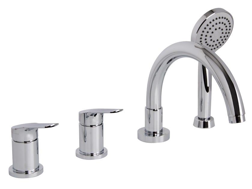 4 hole bathtub set with hand shower SERIE 4 F3784/4 | Bathtub tap by FIMA Carlo Frattini
