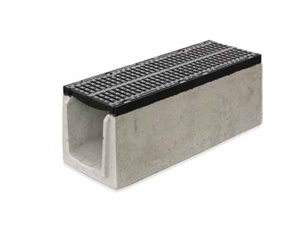 Reinforced concrete Drainage channel and part SERIE K350 by GRIDIRON GRIGLIATI
