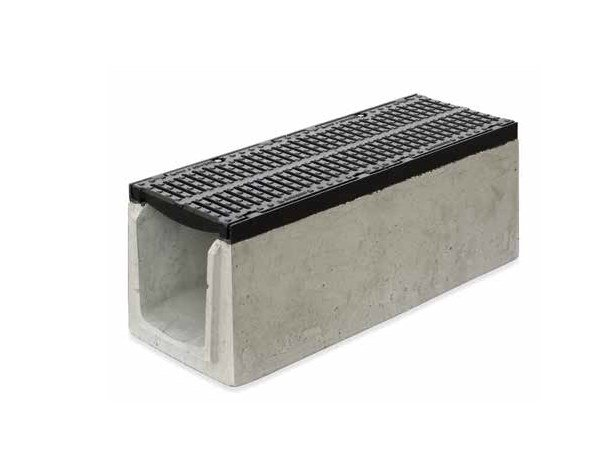 Reinforced concrete Drainage channel and part SERIE K400 by GRIDIRON GRIGLIATI