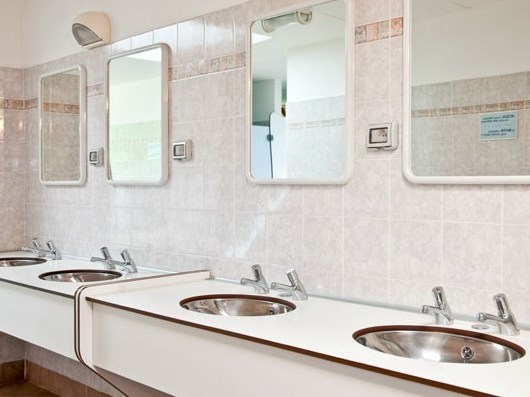 HPL washbasin top SERIE PLTOP AV by GES Group