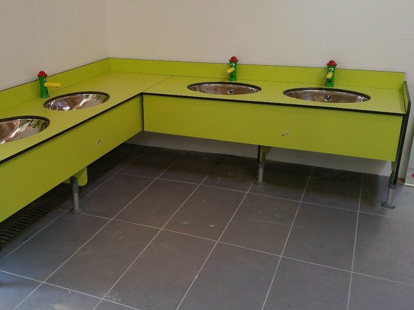 HPL washbasin countertop SERIE PLTOP K by GES Group