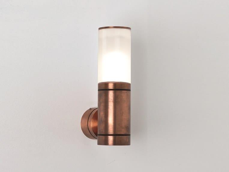 Applique per esterno a luce diretta in metallo serko d applique