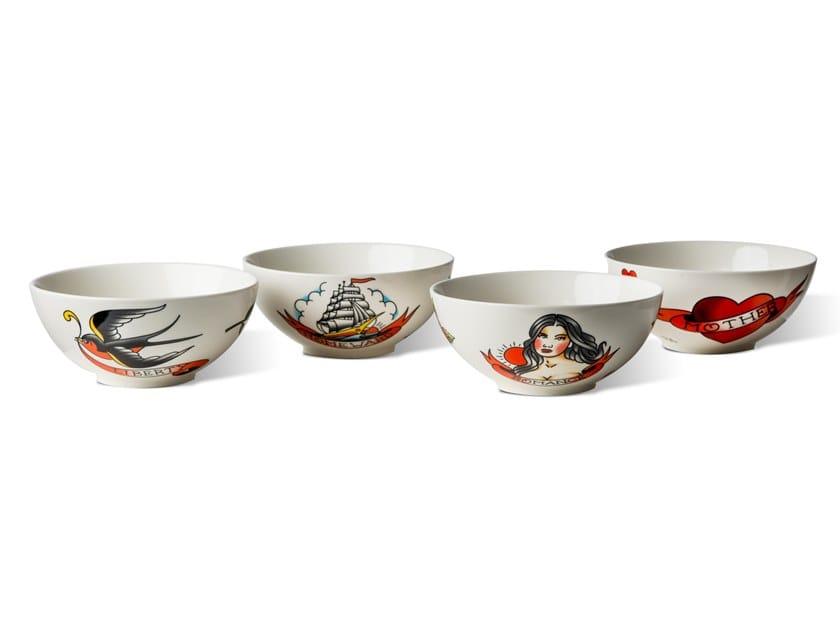 Ceramic serving bowls set TATTOO | Serving bowls set by Pols Potten