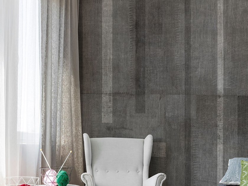 Fire retardant glass-fibre wallpaper with textile effect SET by Tecnografica Italian Wallcoverings