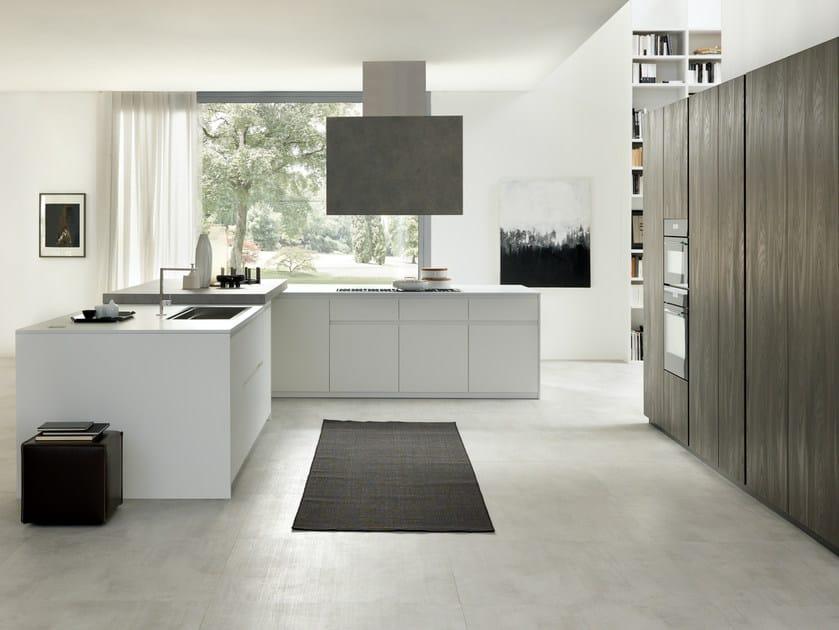 SETA | Cucina con isola Collezione Seta By Floritelli Cucine