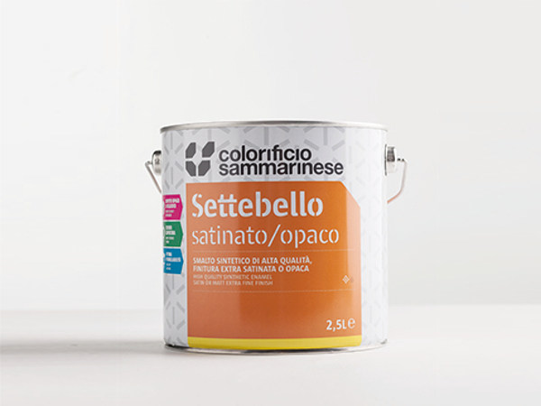 Premium synthetic enamel SETTEBELLO OPACO by Colorificio Sammarinese
