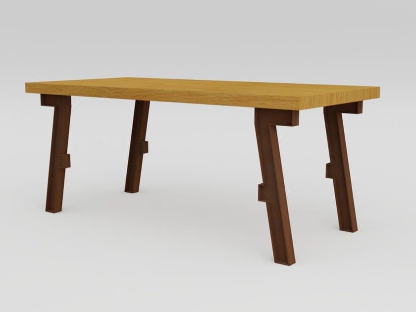 Rectangular Corten™ table SEVEN | Rectangular table by TrackDesign