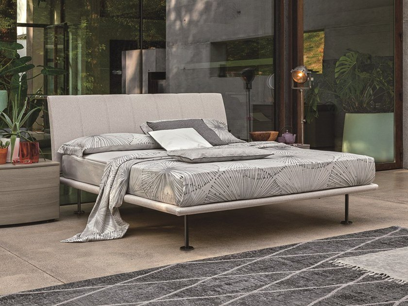 Upholstered fabric double bed SEVEN | Upholstered bed by Gruppo Tomasella