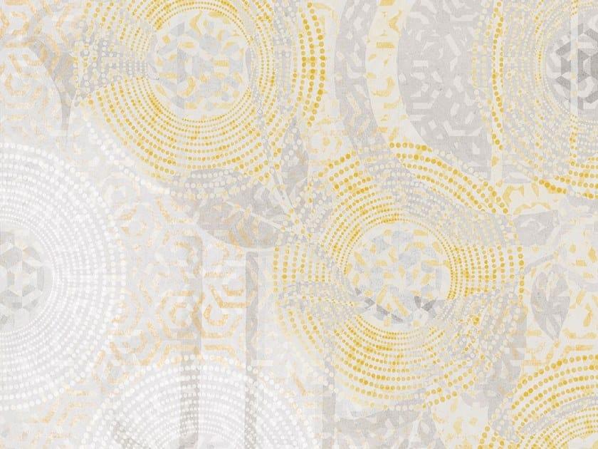 Geometric Digital printing wallpaper with floral pattern SEVENTIES by Tecnografica Italian Wallcoverings