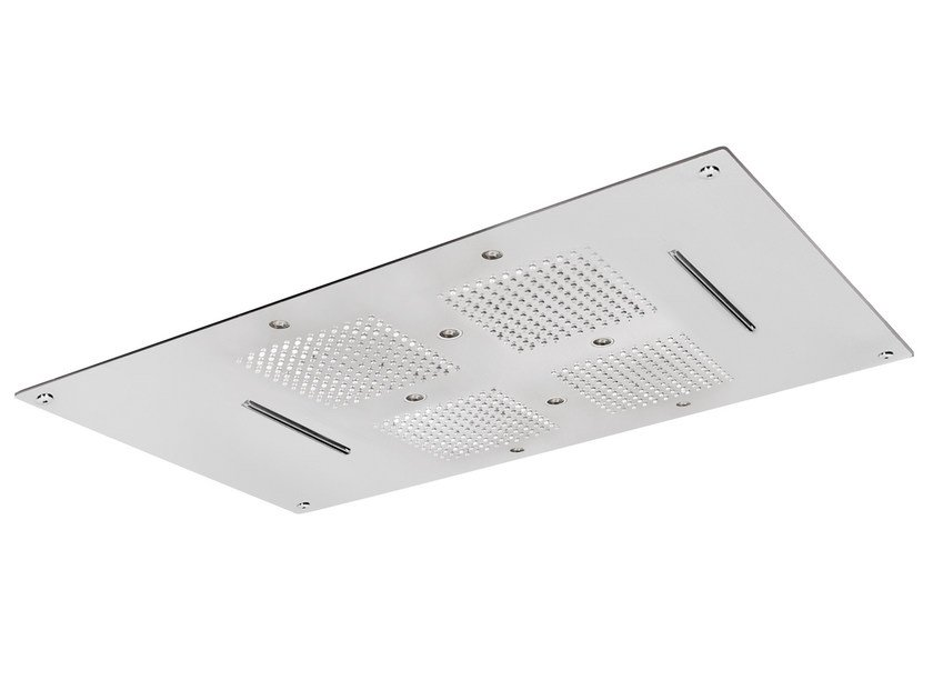Built-in 2-spray overhead shower ROCK | LED overhead shower by AQUAelite
