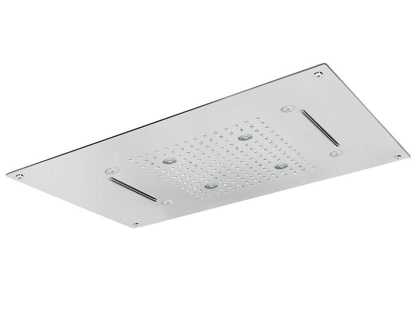 Built-in 3-spray overhead shower ROCK | Mist spray overhead shower by AQUAelite