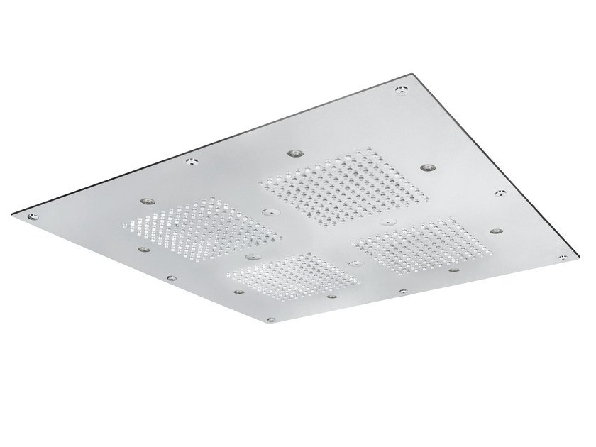 Built-in 2-spray overhead shower TECHNO | Overhead shower with built-in lights by AQUAelite