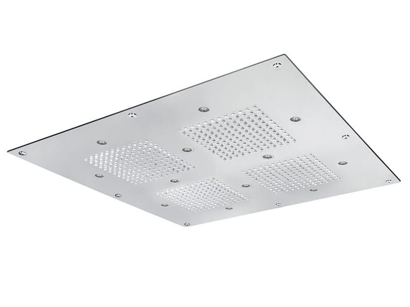 Built-in rain shower TECHNO | LED overhead shower by AQUAelite
