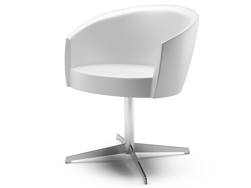 Swivel easy chair with 4-spoke base with armrests SFER | Easy chair with 4-spoke base by Cizeta L'Abbate