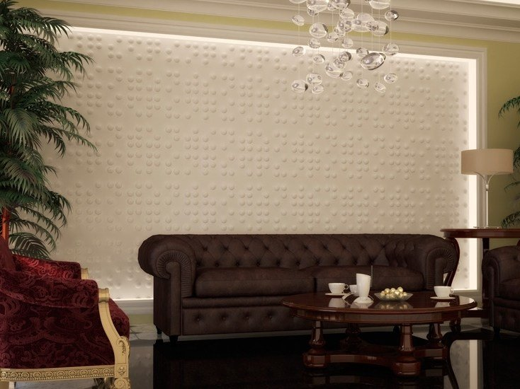 Indoor gypsum 3D Wall Panel SFERE by Profilgessi