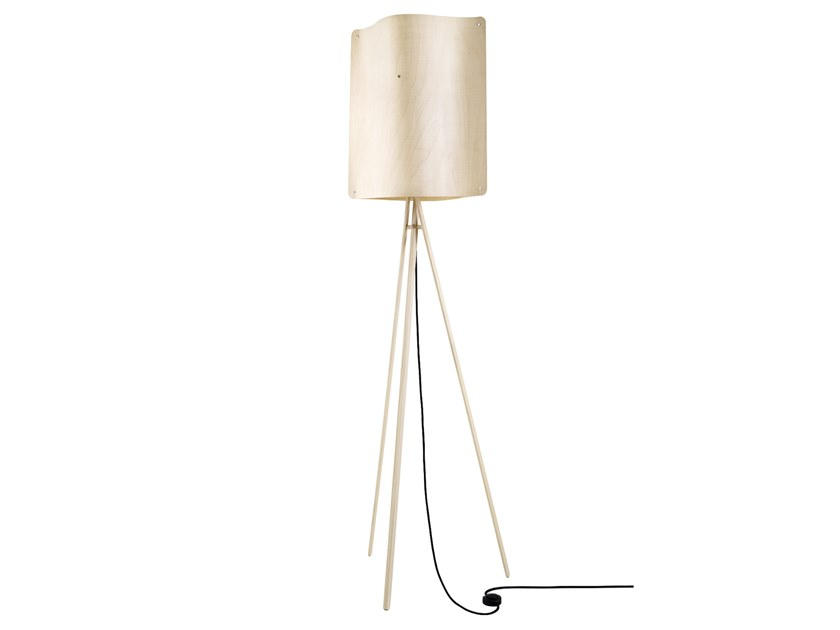 LED multi-layer wood floor lamp SQUARE FLOOR LARGE by Finom Lights