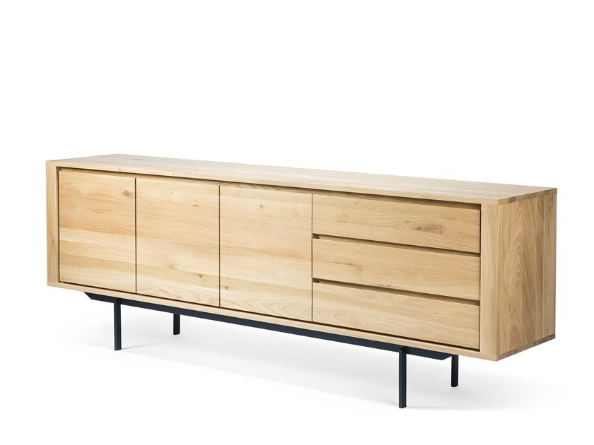 Oak sideboard with doors with drawers OAK SHADOW | Sideboard by Ethnicraft