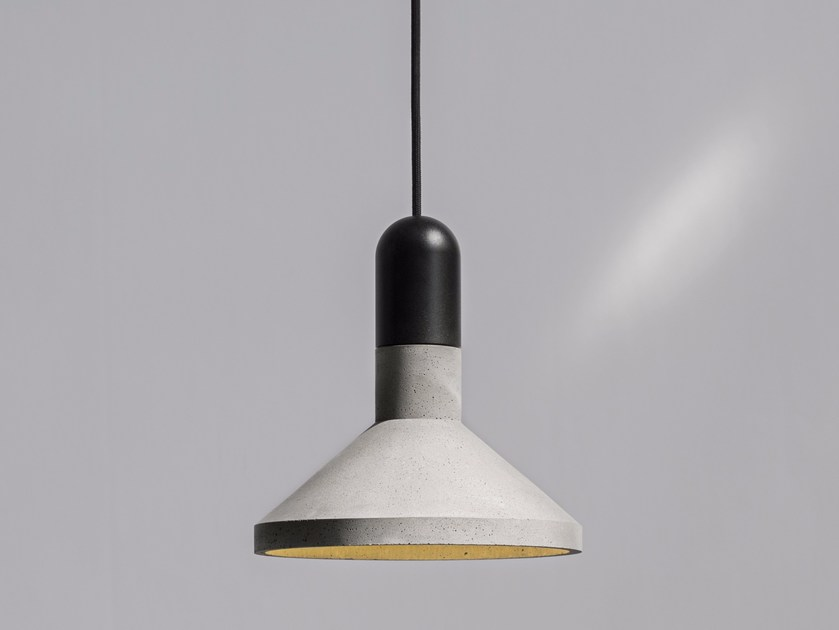 LED concrete pendant lamp SHANG ALUMINIUM by Bentu Design