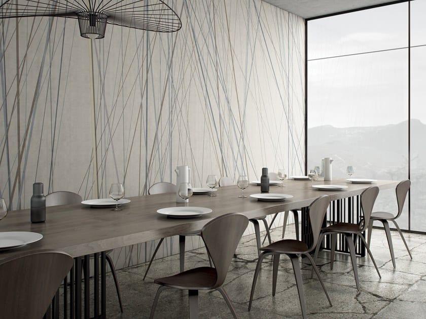 Striped wallpaper SHANGAI by GLAMORA