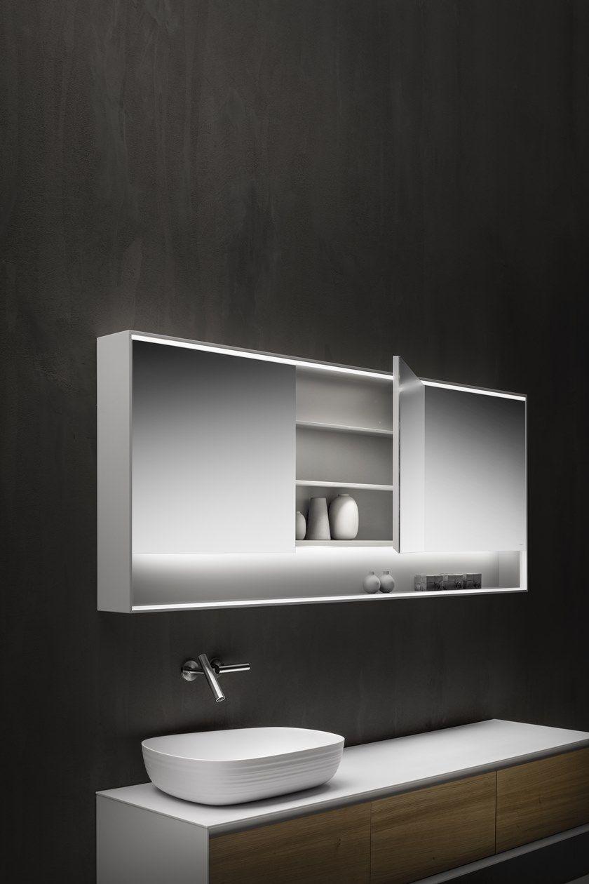 SHAPE EVO   Specchio con contenitore
