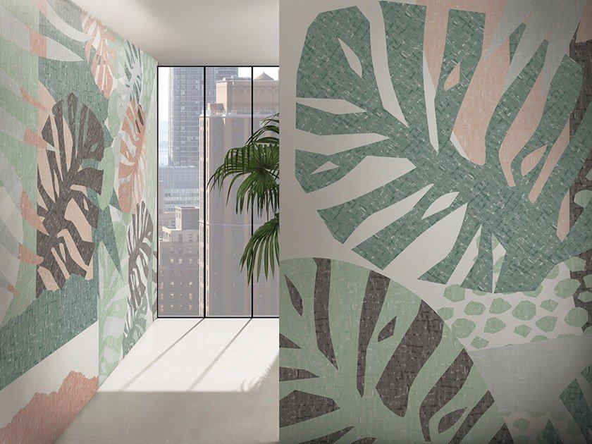 Tropical wallpaper SHAPES by GLAMORA