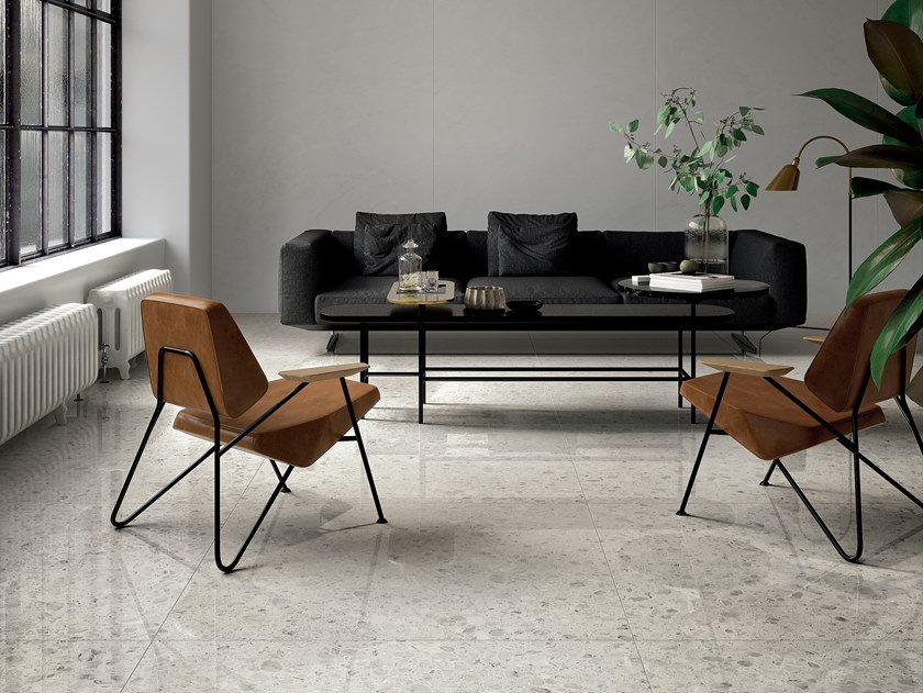 Porcelain Stoneware Flooring Terrazzo Effect Shards Large