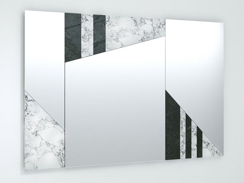 Rectangular wall-mounted mirror SHEE by Visionnaire