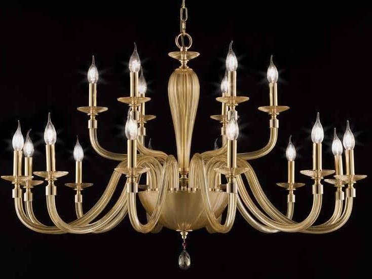 Crystal chandelier with Swarovski® Crystals SHEEN L12+6 by Euroluce Lampadari