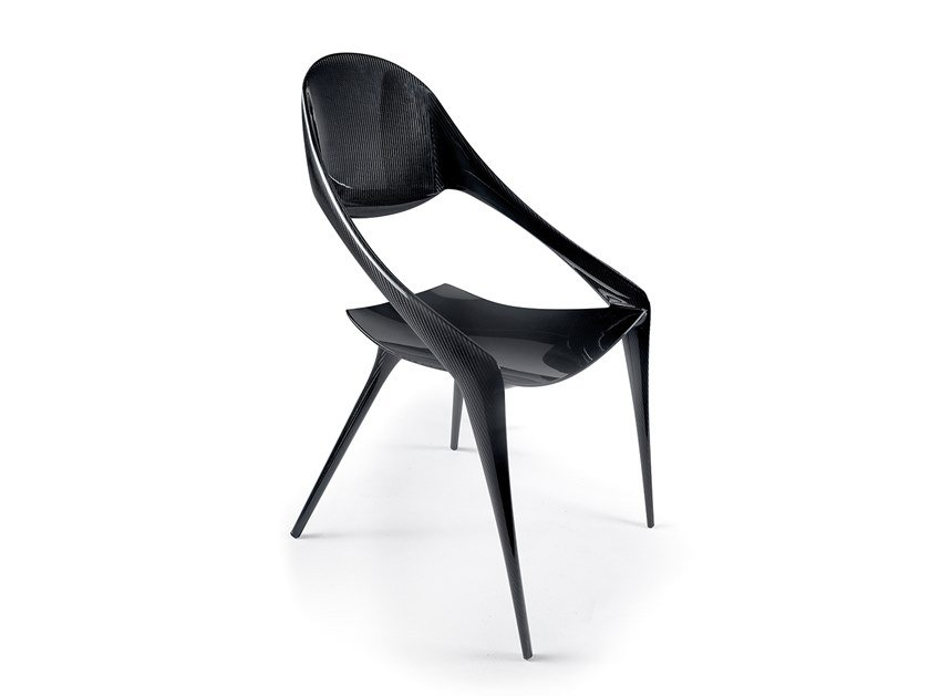 Contemporary style open back other materials chair with armrests SHELL by Reflex