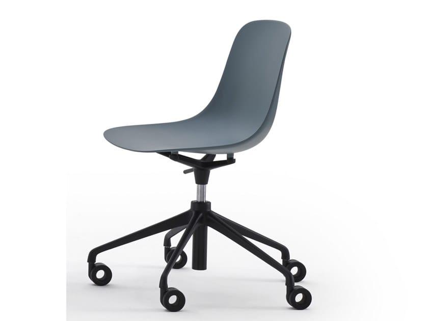 Height-adjustable polypropylene office chair with castors SHELL | Office chair with castors by ESTEL GROUP