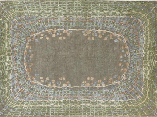 Handmade rectangular rug SHELL PATINA by Deirdre Dyson