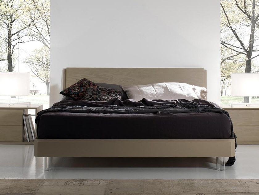 Wooden double bed SHELL WOOD by Kico