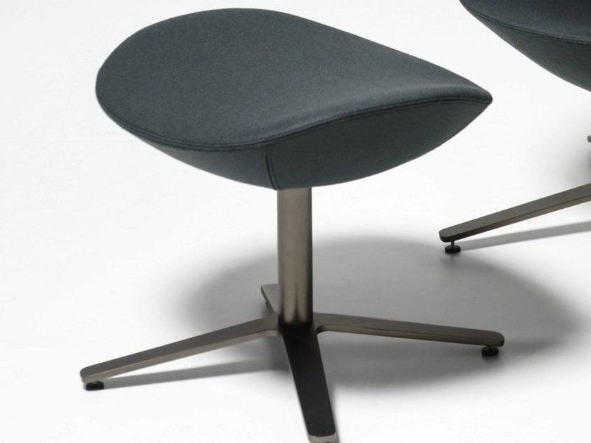 Fabric footstool with 4-spoke base SHELTER   Footstool by Tacchini