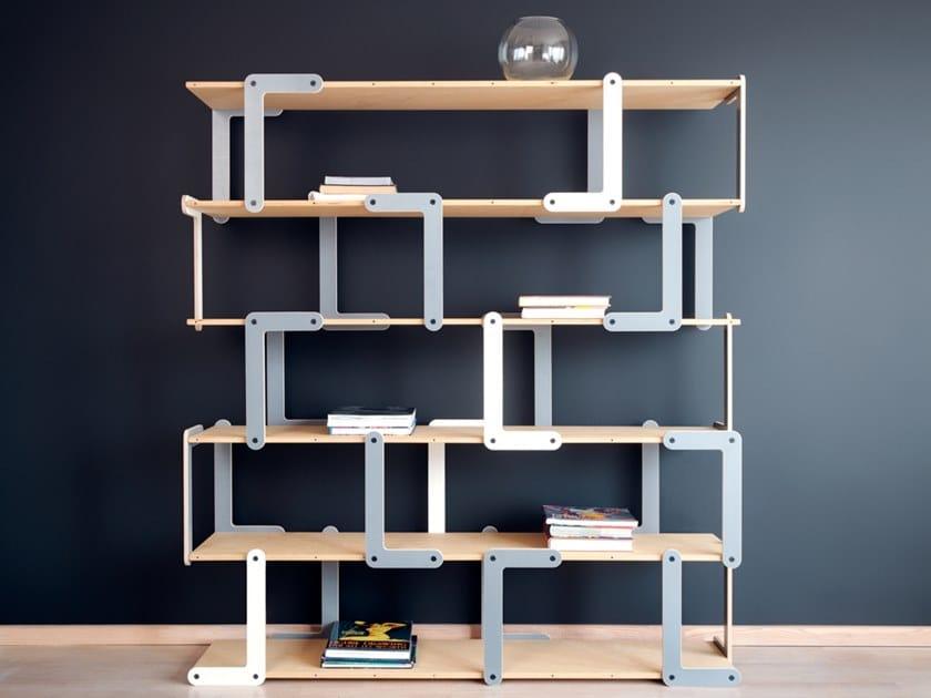 Modular plywood shelving unit BOOM | Shelving unit by Radis