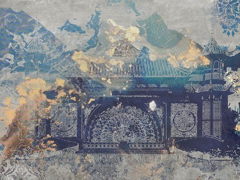 Rubber Digital printing landscape wallpaper SHERPA by Tecnografica Italian Wallcoverings