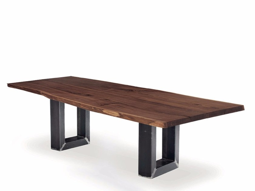 Rectangular solid wood table SHERWOOD PLANK by Riva 1920