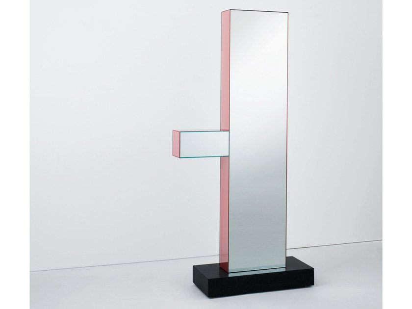 Rectangular mirror SHIBAM 1 by Glas Italia