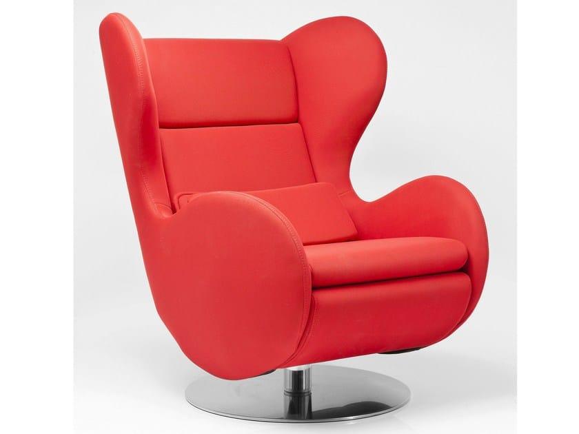 Swivel fabric armchair SHIBUYA by KARE-DESIGN