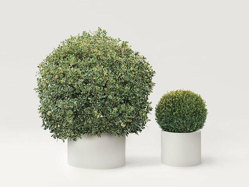Stainless steel plant pot SHIELD by paola lenti