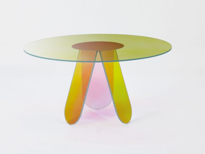 Tavoli Rotondi Cristallo Design.Shimmer Tavolo Rotondo Collezione Shimmer By Glas Italia Design