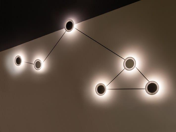 LED metal wall lamp SHINE by Quadrifoglio