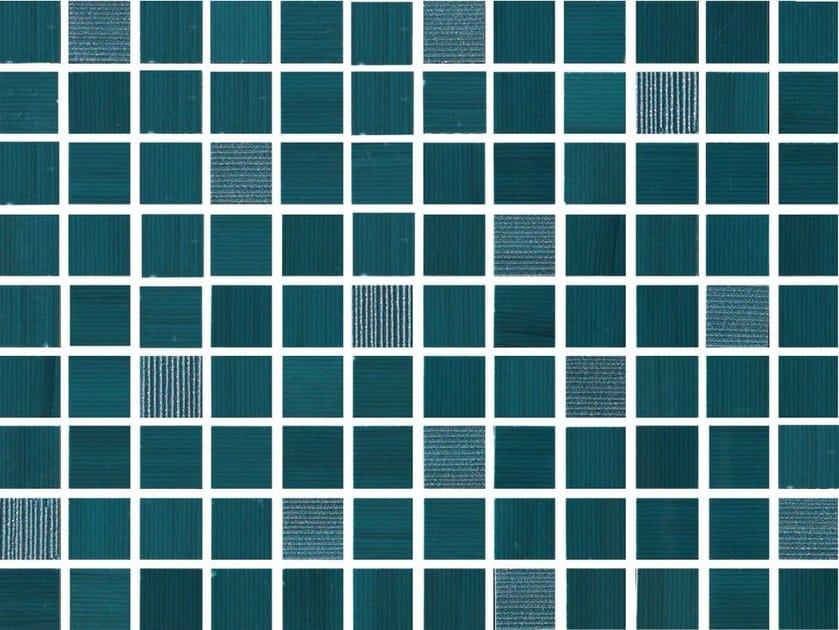 White-paste mosaic SHINE Turchese by Impronta Ceramiche