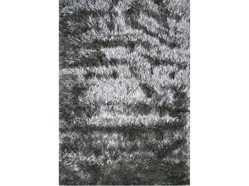 Handmade rectangular rug SHINIE DELUXE SILVER by EBRU