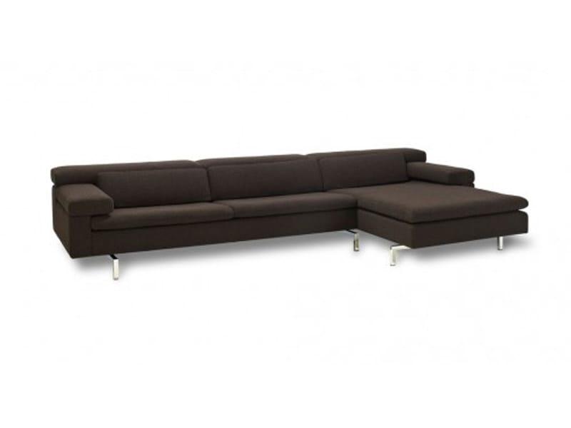 Fabric sofa with chaise longue SHIVA | Fabric sofa by JORI
