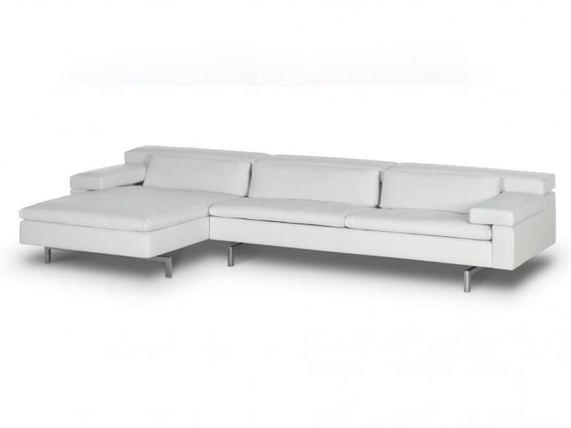 Sofá de pele com chaise-longues SHIVA | Sofá de pele by JORI