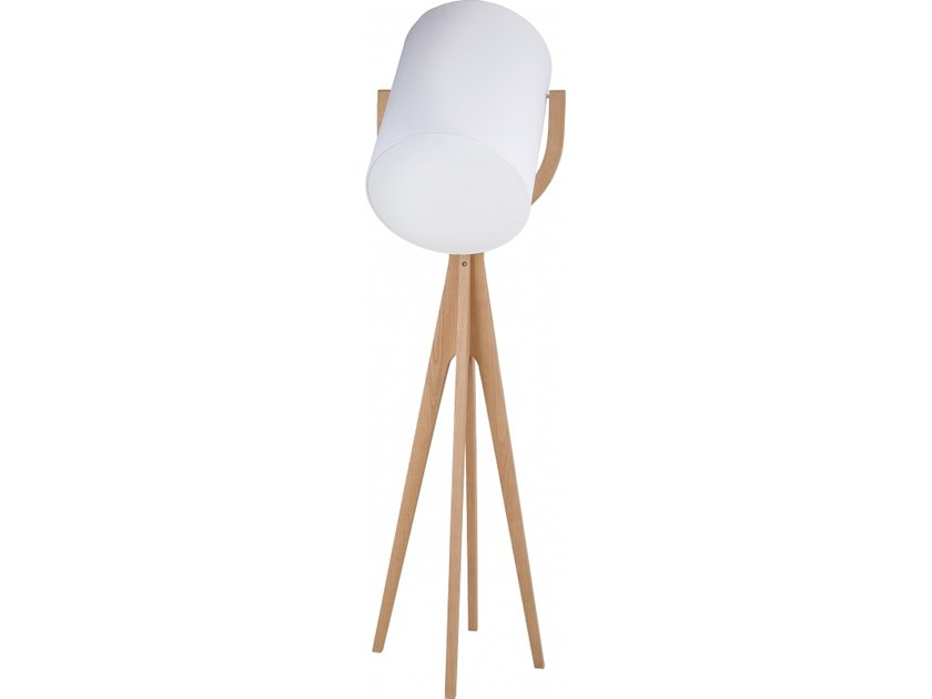 Wooden floor lamp SHOOTING by Flam & Luce