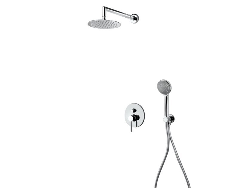 Brass shower mixer with hand shower SHOWER 10254 by I Crolla Rubinetterie