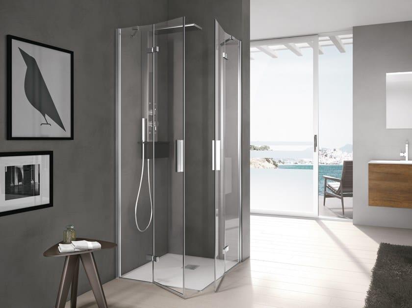 TIME | Box doccia con porta a battente