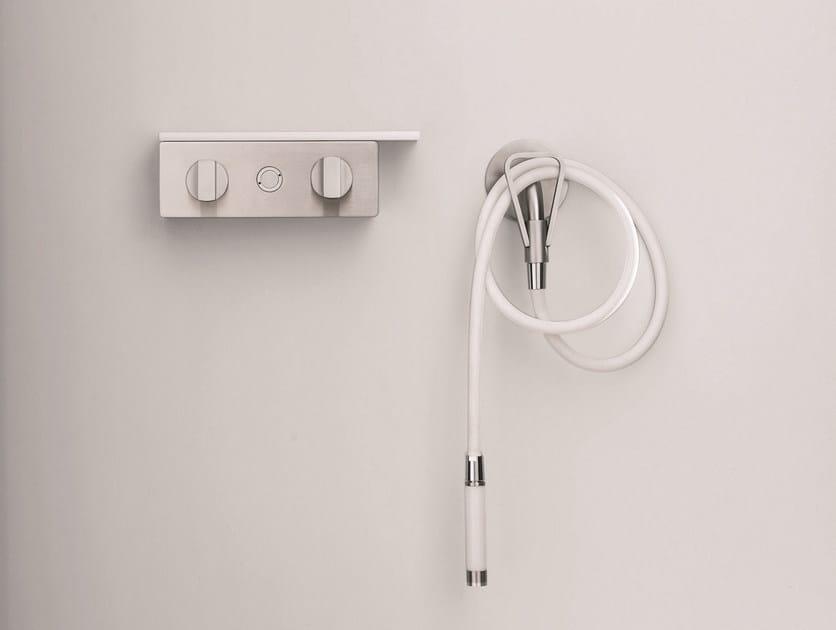 Miscelatore per doccia in acciaio inox con finitura satinata THERMAE | Miscelatore per doccia by Fantini Rubinetti
