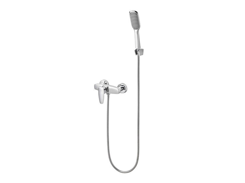 Chromed brass shower mixer with hand shower PAN II | Shower mixer by JUSTIME